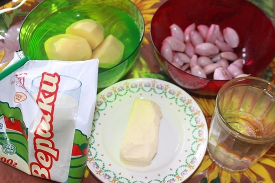 приготовление блюда начинаем с подготовки необходимых продуктов