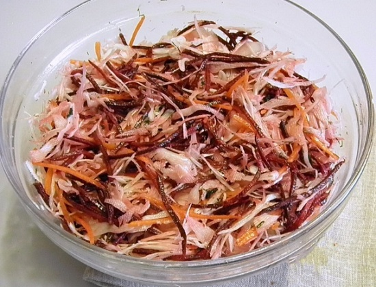 Салат для худеющих «Щетка»