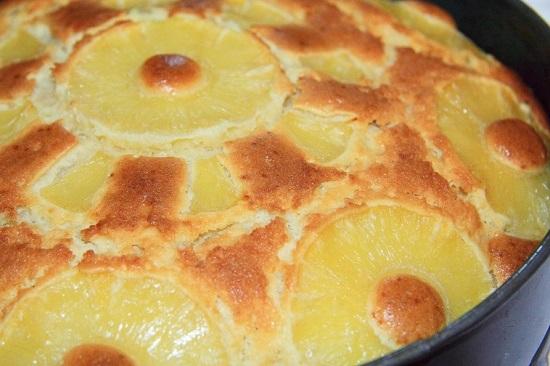 Пирог с ананасом: рецепт с фото