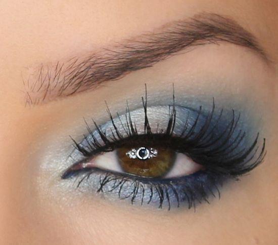 матовые темно-синие для карих глаз