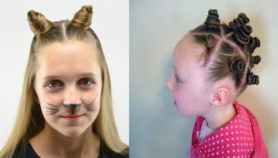 маленькие пучочки на голове у девочки