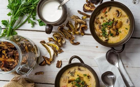 ароматным получится грибной суп из сушеных опят