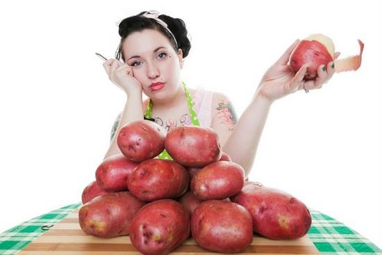 сытной получается картошка с беконом в духовке