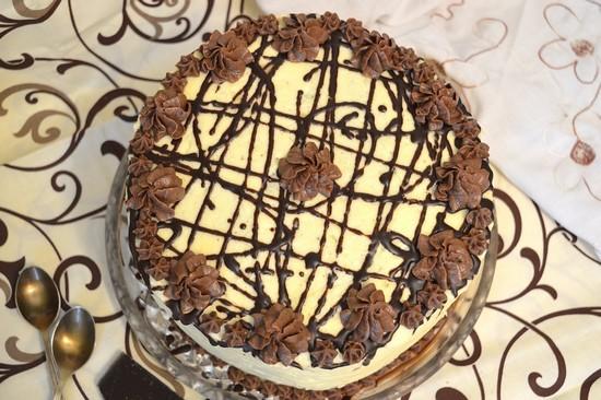 Торт «День и ночь» со сметанным кремом