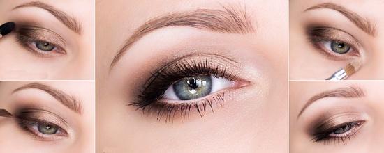 легкий макияж на выпускной для зеленых глаз