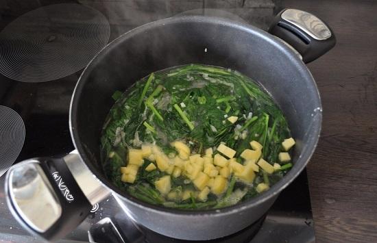в суп картофель