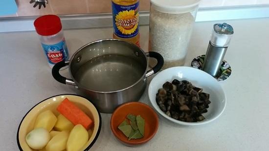 для приготовления супчика замороженные отварные опята
