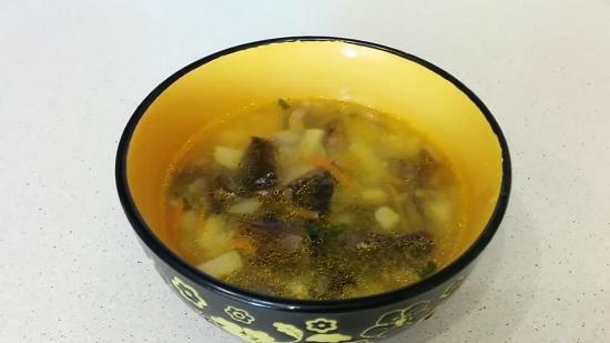 Грибной суп из луговых опят: рецепт