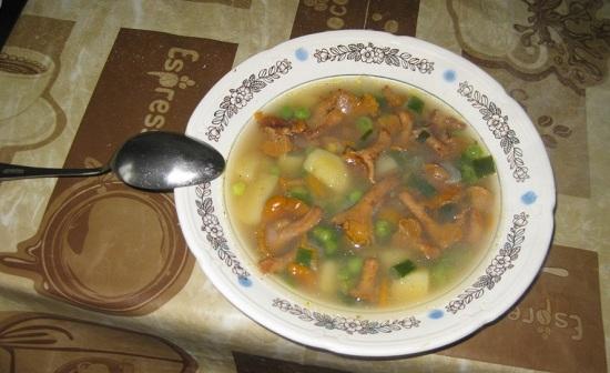 грибной супчик с овощами