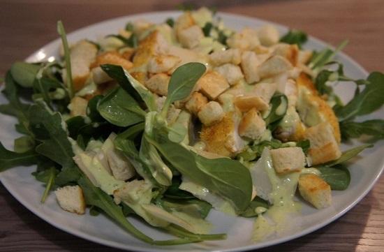 рецепт приготовления салата с Пармезаном