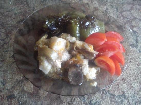 мясо, тушенное с баклажанами