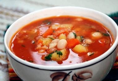 Суп фасолевый из консервированной фасоли белой с мясом