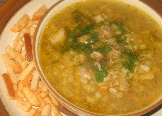 грибной суп с перловкой: рецепт простой