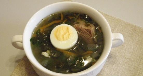 Суп из щавеля с яйцом: рецепт классический