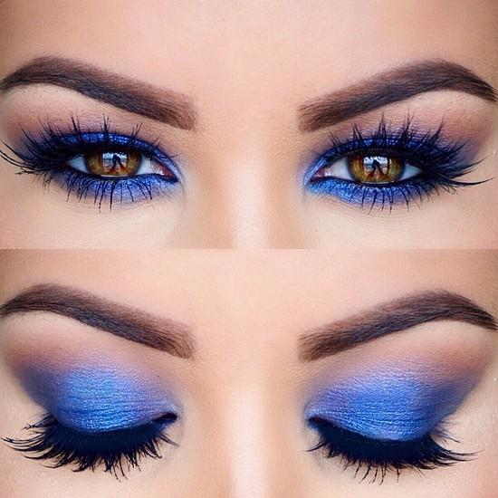 макияж для карих глаз с яркими тенями