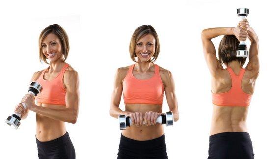 Упражнения для обвисших рук с гантелями