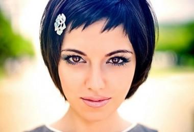 Стрижка «Шапочка» на короткие волосы с челкой: схема