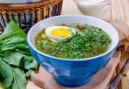 Суп из крапивы и щавеля: рецепты приготовления