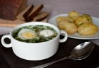 Суп из зеленого лука (куриный, с яйцом)