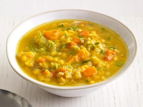 Суп из зеленой чечевицы (постный, с курицей): рецепты