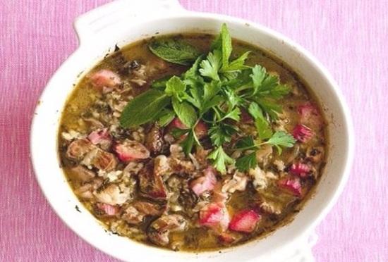 Суп из ревеня: рецепты с мясом, яйцом