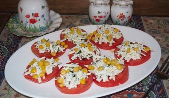 салатик с томатами и брынзой