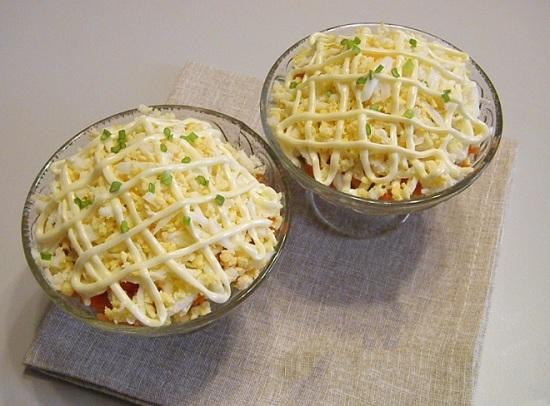 салат с утиной печенью