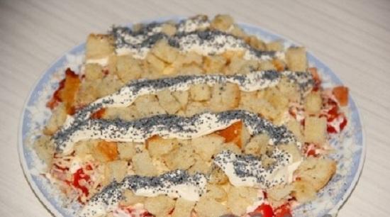 Салат «Невеста»: пошаговый рецепт