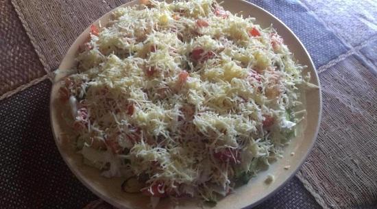 салат с мидиями в масле