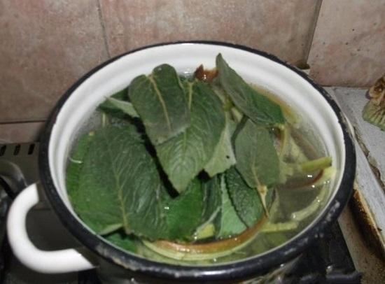 зелень в кипящую воду