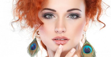 макияж для рыжих волос и зеленых глаз