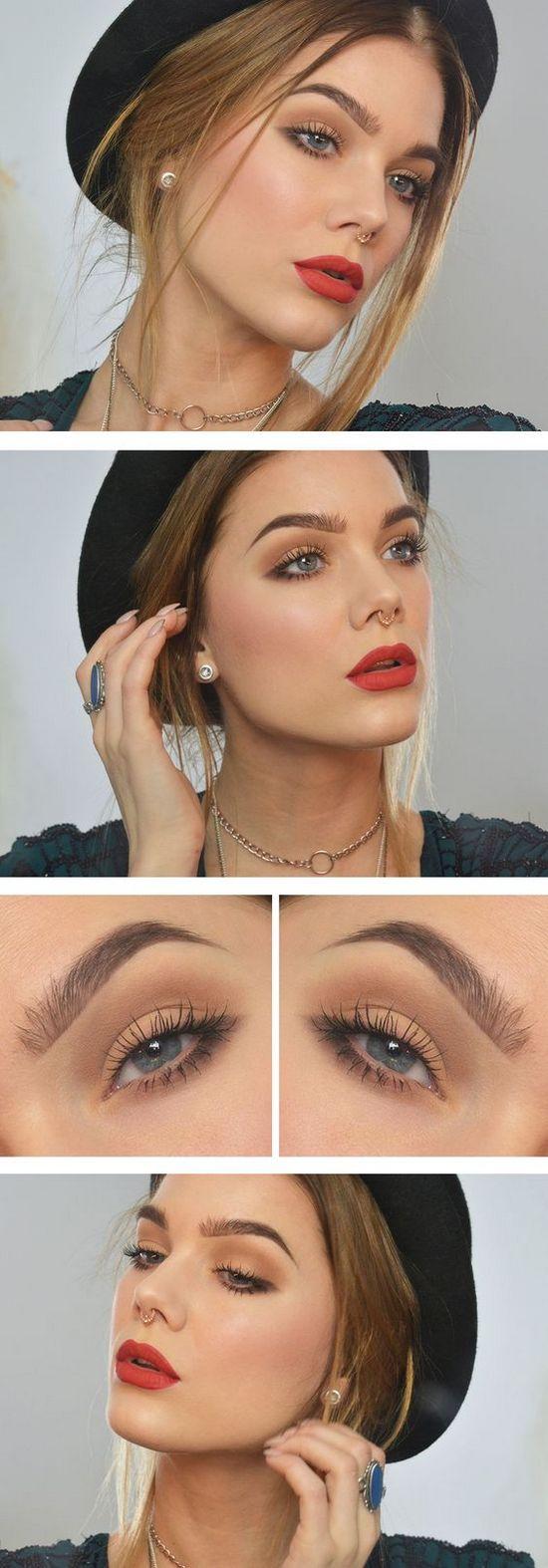 легкий макияж для серо-зеленых глаз