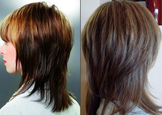Стрижка аврора на средние волосы вид сзади