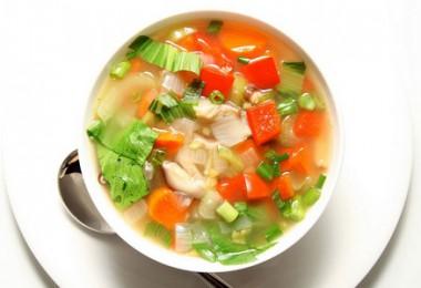 Диетический овощной суп