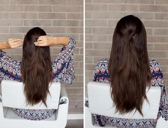Как собрать длинные волосы красиво?