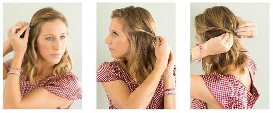Как собрать короткие волосы красиво?