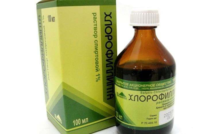 Ангина: полоскание горла раствором Хлорофиллипта