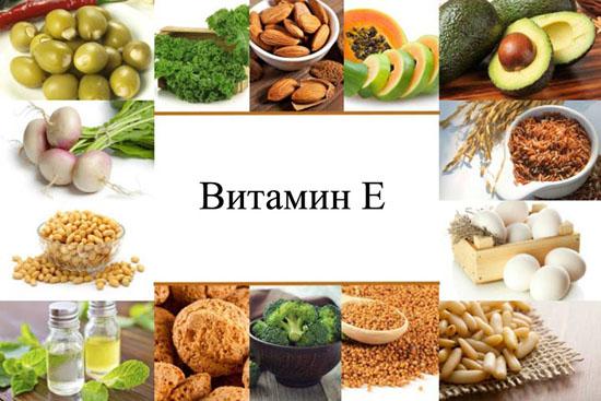 Продукты– безопасные природные источники витамина е