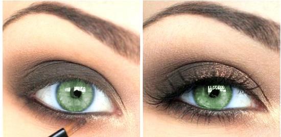 Как сделать макияж для зеленых глаз?