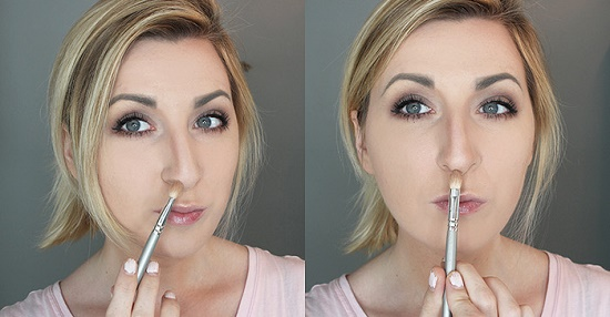 Как можно нанести макияж, чтобы нос казался меньше