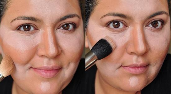 Как правильно наносить макияж на полное лицо
