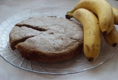 Шоколадная шарлотка с бананами