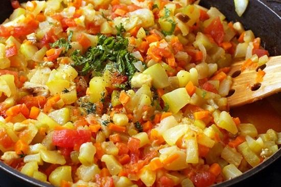 Тушим овощи до мягкости