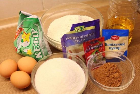 необходимые для торта «Красный бархат» ингредиенты