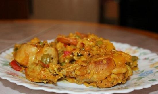 Паэлья с курицей: рецепт с фото