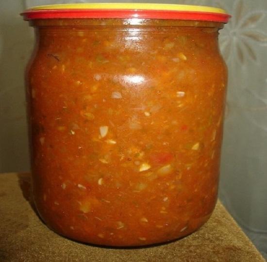 Аджика из кабачков: рецепт