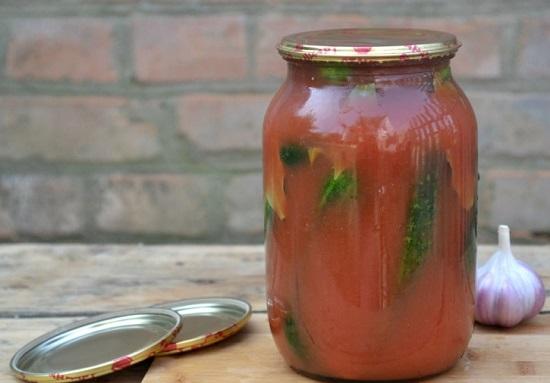 Огурцы в томате на зиму: лучшие рецепты заготовок