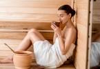 Как очистить лицо в сауне