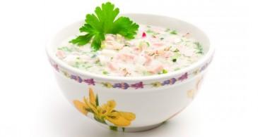 Сколько калорий в окрошке на кефире и минералке?
