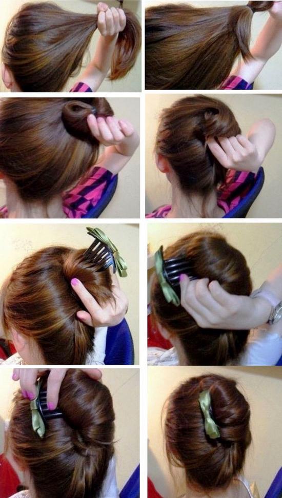 Прически   Ракушка для девочек